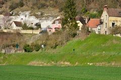Νησί Haute, Γαλλία - 29 Φεβρουαρίου 2016: γραφικό χωριό στο W Στοκ Εικόνες