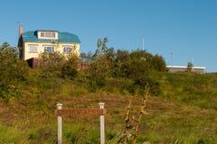 Νησί Hrisey στην Ισλανδία Στοκ Φωτογραφίες