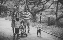 Νησί Jeju, ΚΟΡΕΑ - 12 Οκτωβρίου: Η κορεατική οικογένεια σε Jeju - 12 Ο Στοκ φωτογραφία με δικαίωμα ελεύθερης χρήσης
