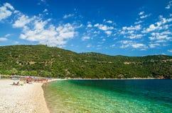 Νησί Kefalonia παραλιών Antisamos, Ελλάδα Στοκ Εικόνες