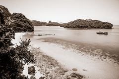 Νησί Ko Wua Talap χρώματος σεπιών Στοκ φωτογραφίες με δικαίωμα ελεύθερης χρήσης
