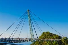 Νησί Langkawi συμβόλων γεφυρών ουρανού Διακοπές περιπέτειας σύγχρονη τεχνολογία Τουριστικό αξιοθέατο μικρό ταξίδι χαρτών του Δουβ Στοκ Εικόνες