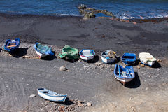 Νησί Lanzarote λιμνοθαλασσών EL Golfo Στοκ Φωτογραφίες