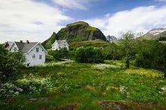 Νησί Lofoten playpark Στοκ φωτογραφία με δικαίωμα ελεύθερης χρήσης