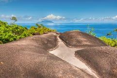 Νησί Mahe, σημαντικό ίχνος φύσης Anse, Σεϋχέλλες Στοκ εικόνες με δικαίωμα ελεύθερης χρήσης