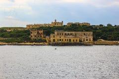 Νησί Manoel με το οχυρό Manoel και τα παλαιά ναυτικά κτήρια στοκ φωτογραφίες με δικαίωμα ελεύθερης χρήσης