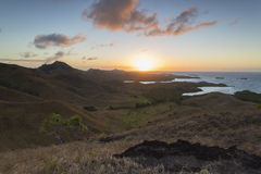 Νησί Nacula στην αυγή, νησιά Yasawa, Φίτζι Στοκ Εικόνα