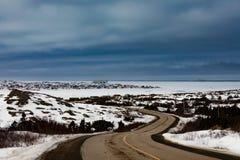 Νησί NL Καναδάς οδικού Fogo βραχιόνων του Joe Batts outport στοκ εικόνες