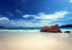 Νησί Praslin παραλιών του Λάτσιο Anse, Σεϋχέλλες Στοκ εικόνα με δικαίωμα ελεύθερης χρήσης