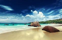 Νησί Praslin παραλιών του Λάτσιο Anse Στοκ Φωτογραφίες