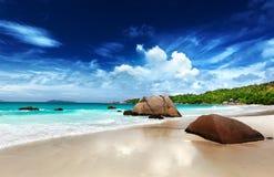 Νησί Praslin παραλιών του Λάτσιο Anse Στοκ εικόνα με δικαίωμα ελεύθερης χρήσης