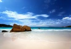 Νησί Praslin παραλιών του Λάτσιο Anse Στοκ φωτογραφίες με δικαίωμα ελεύθερης χρήσης