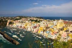 Νησί Procida στο Neapolitan κόλπο στην Ιταλία Στοκ φωτογραφίες με δικαίωμα ελεύθερης χρήσης