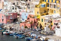 Νησί Procida στο Neapolitan κόλπο στην Ιταλία Στοκ φωτογραφία με δικαίωμα ελεύθερης χρήσης
