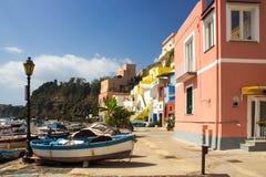 Νησί Procida στο Neapolitan κόλπο στην Ιταλία Στοκ Φωτογραφίες