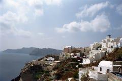 Νησί Santorini Fira, Ελλάδα Στοκ Φωτογραφία
