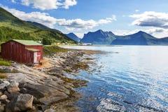 Νησί Senja Στοκ Φωτογραφίες