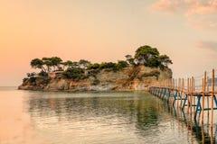 Νησί Sostis επιβαρύνσεων στη Ζάκυνθο, Ελλάδα Στοκ εικόνα με δικαίωμα ελεύθερης χρήσης