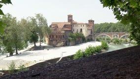 Νησί Tiber απόθεμα βίντεο