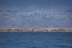 Νησί Vir της άποψης από τη θάλασσα, Δαλματία, Κροατία Στοκ Φωτογραφίες