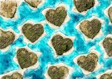 Νησιά με μορφή καρδιές στοκ φωτογραφία με δικαίωμα ελεύθερης χρήσης