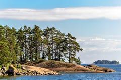 Νησιά στον κόλπο της Φινλανδίας Στοκ εικόνες με δικαίωμα ελεύθερης χρήσης