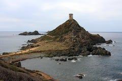 νησιά της Κορσικής iles sanguinaires αιμ& Στοκ Φωτογραφία