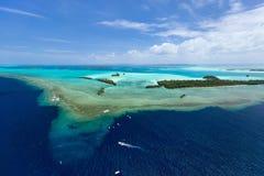 Νησιά του Παλάου άνωθεν Στοκ φωτογραφία με δικαίωμα ελεύθερης χρήσης