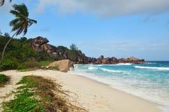 Νησιά των Σεϋχελλών, Λα Digue, λεπτοκαμωμένη παραλία Anse Στοκ φωτογραφίες με δικαίωμα ελεύθερης χρήσης