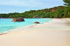 Νησιά των Σεϋχελλών, Praslin, Anse Λάτσιο Στοκ Εικόνες