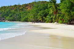 Νησιά των Σεϋχελλών, Praslin, Anse Λάτσιο Στοκ Εικόνα