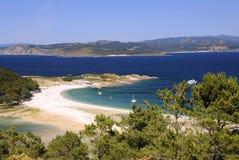 Νησιά Cies στο Vigo, Ισπανία Στοκ φωτογραφία με δικαίωμα ελεύθερης χρήσης
