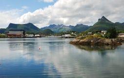 Νησιά Lofoten το καλοκαίρι Στοκ φωτογραφία με δικαίωμα ελεύθερης χρήσης