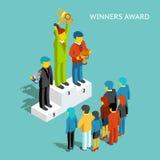 Νικητές επιχειρησιακών βραβείων επιχειρηματίες επιτυχε ελεύθερη απεικόνιση δικαιώματος