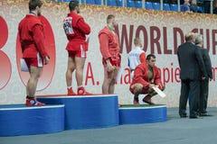 Νικητές του μνημείου Παγκόσμιου Κυπέλλου Στοκ εικόνες με δικαίωμα ελεύθερης χρήσης