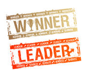 νικητής γραμματοσήμων ηγετών Στοκ Εικόνες