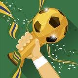 Νικητής παγκόσμιου ποδοσφαίρου απεικόνιση αποθεμάτων