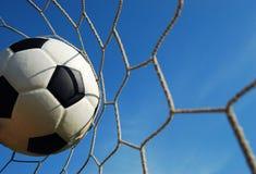 Νικητής στόχου ποδοσφαίρου Στοκ φωτογραφία με δικαίωμα ελεύθερης χρήσης