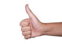 νικητής χειρονομίας Στοκ εικόνες με δικαίωμα ελεύθερης χρήσης