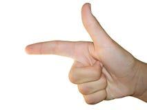 νικητής χειρονομίας στοκ φωτογραφία με δικαίωμα ελεύθερης χρήσης