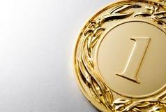 Νικητής χρυσών μεταλλίων Στοκ εικόνα με δικαίωμα ελεύθερης χρήσης
