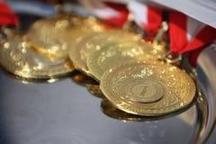 Νικητής χρυσών μεταλλίων Στοκ Φωτογραφία