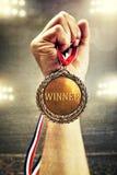 Νικητής χρυσών μεταλλίων Στοκ φωτογραφίες με δικαίωμα ελεύθερης χρήσης