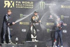 Νικητής Petter SOLBERG Κόσμος FIA της Βαρκελώνης Στοκ Φωτογραφίες