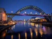 ΝΙΟΥΚΑΣΤΛ-ΑΠΌΝ-ΤΆΙΝ, ΤΑΙΝ ΚΑΙ WEAR/UK - 20 ΙΑΝΟΥΑΡΊΟΥ: Άποψη Στοκ Εικόνες