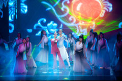 Νιρβάνα--Ιστορικός μαγικός ο μαγικός δράματος τραγουδιού και χορού ύφους - Gan Po Στοκ Φωτογραφίες