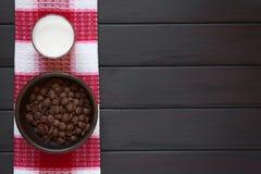 Νιφάδες καλαμποκιού σοκολάτας Στοκ εικόνα με δικαίωμα ελεύθερης χρήσης