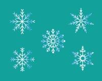 Νιφάδες χιονιού Στοκ Εικόνα