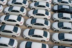 Νοβορωσίσκ, Ρωσίας - 18 Μαΐου, 2017: Πολύ νέο corolla της TOYOTA αυτοκινήτων που σταθμεύουν στην περιοχή για την πώληση επάνω από Στοκ φωτογραφία με δικαίωμα ελεύθερης χρήσης