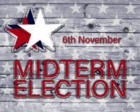 6 Νοεμβρίου αφίσα ενδιάμεσης εκλογής με τα αστέρια ελεύθερη απεικόνιση δικαιώματος